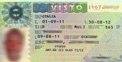 italia visa
