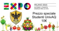 Expo 2015 in Milan: special discount for L'Aquila students