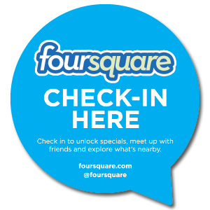 foursquare check in here
